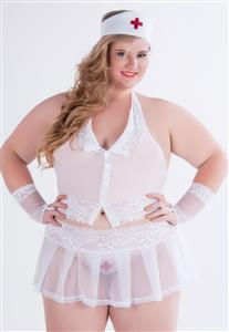 Fantasia Plus Size Enfermeira Sensual Garota Veneno