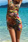 Vestido em Voil Pés na Areia De Chelles Acqua