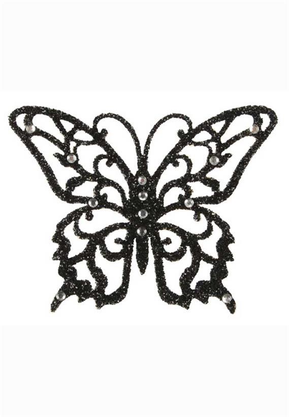 Tatuagem Adesiva Borboleta com Glitter e Strass Bijoux de Pele