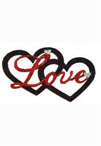 Tatuagem Adesiva 2 Corações Love Bijoux de Pele
