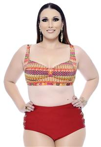Top Plus Size Estampado Belle Plage