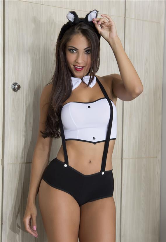 Fantasia Coelha Shorts Garota Veneno