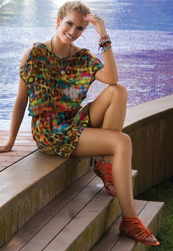 Vestido Pés na Areia De Chelles Acqua