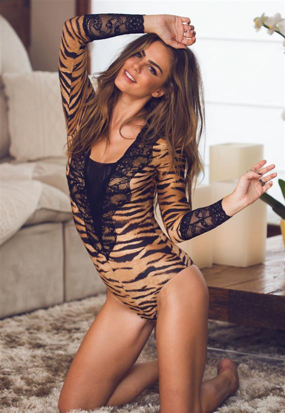 Body Tigre Coleção Batom na Boca De Chelles