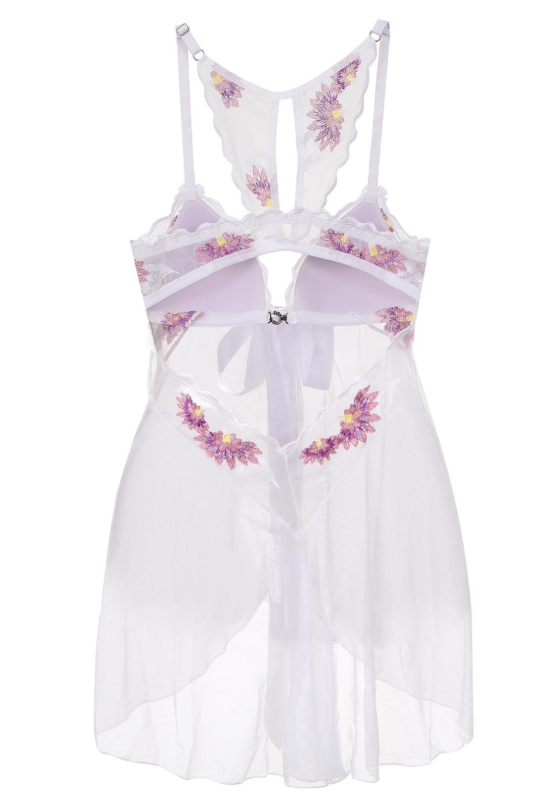 5cd7be033 Camisola Bordada de Tule Gisele Sapeka - Sofisticado e Elegante