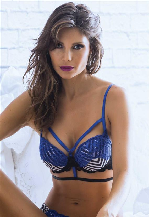 Sutiã de Luxo Strappy Bra (Tiras) Coleção Só Hoje De Chelles