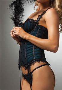 Corpete de Luxo com Drapeado e Passa Fitas Preciosa Liz De Chelles