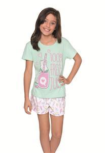 Pijama Infantil de Manga Curta 100% Algodão Lua Encantada