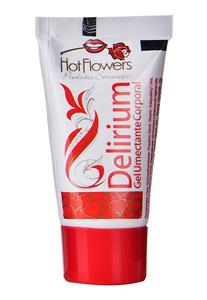 Gel Umectante Unissex Excitante Delirium Hot Flowers 25g