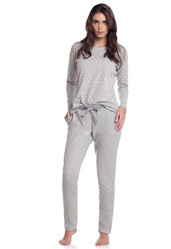 Pijama Manga Longa com Calça Cor com Amor