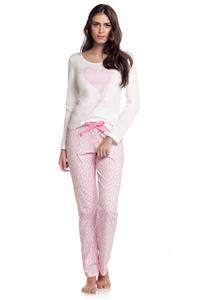 Pijama Manga Longa Coracao Cor com Amor