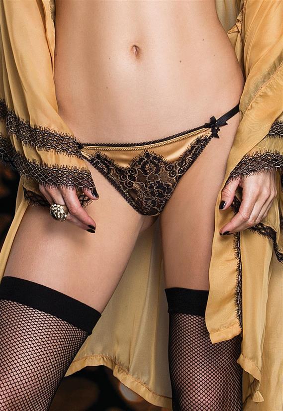 Tanga Fio Duplo Gold Luxe De Chelles