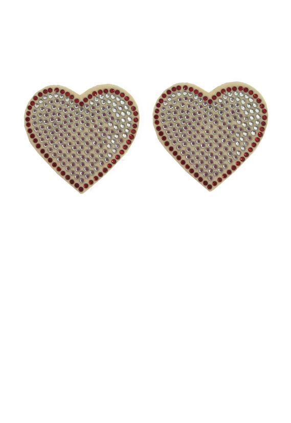 Tapa Mamilos Coração com Strass Sexy Le Lingerie