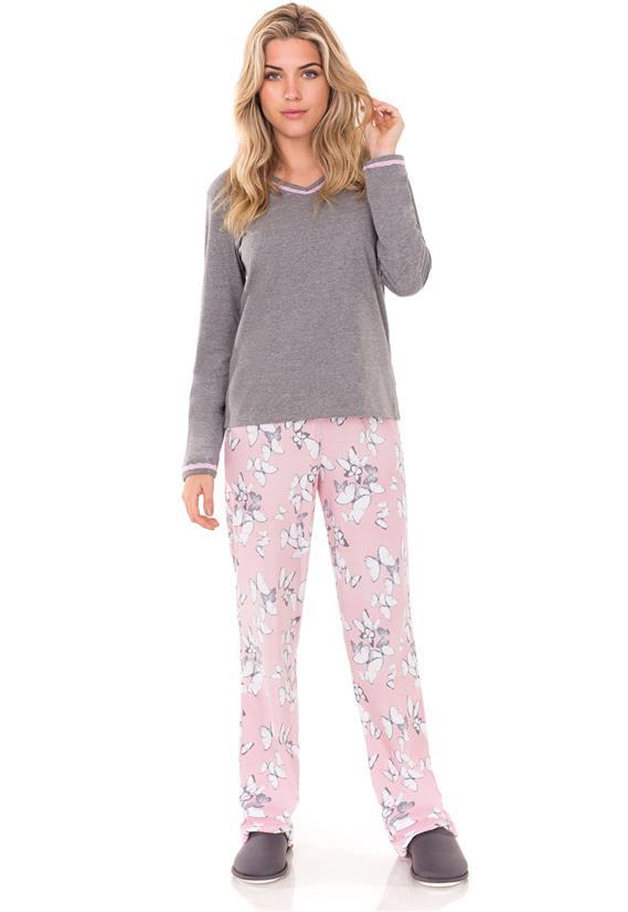 Pijama Manga Longa Borboletas Lua Encantada