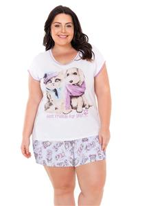 Short Doll Plus Size em Malha Best Friends Lua Encantada