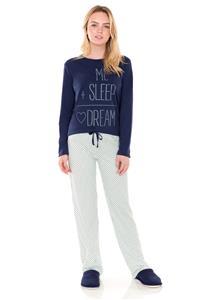 Pijama em Malha Penteada Dream Lua Encantada