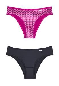 Kit 2 Calcinhas DelRio 51169 Pink Estampado e Preto