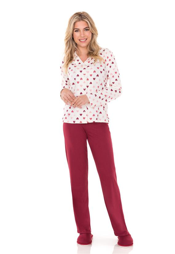 Pijama Feminino com Botões Heart Lua Encantada