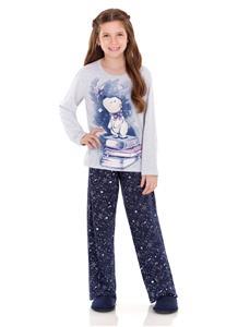 Pijama Juvenil de Inverno Constelação Lua Encantada