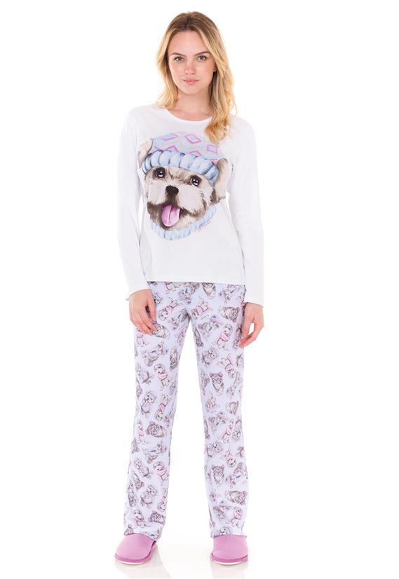 Pijama Feminino Moletinho Flanelado Best Friends Lua Encantada