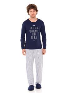 Pijama Masculino Longo em Malha Realeza Lua Encantada