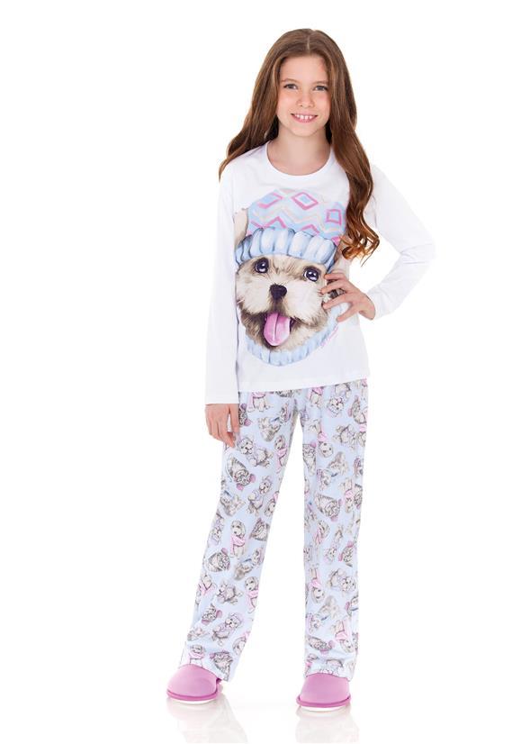 Pijama Infantil em Moletinho Best Friends Lua Encantada