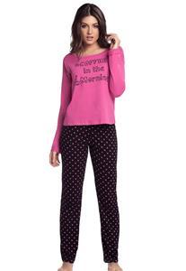 Pijama com Manga Longa Cor com Amor