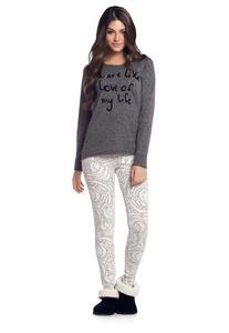 Pijama Longo com Legging Cor com Amor