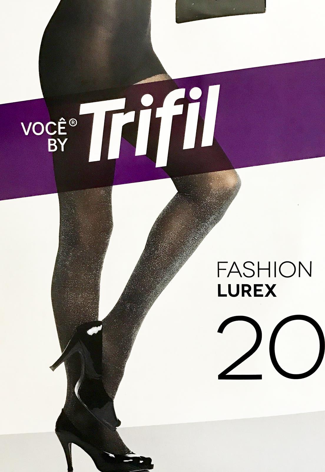 61c7eba5b Meia Calça Fashion Lurex Fio 20 Trifil 6176