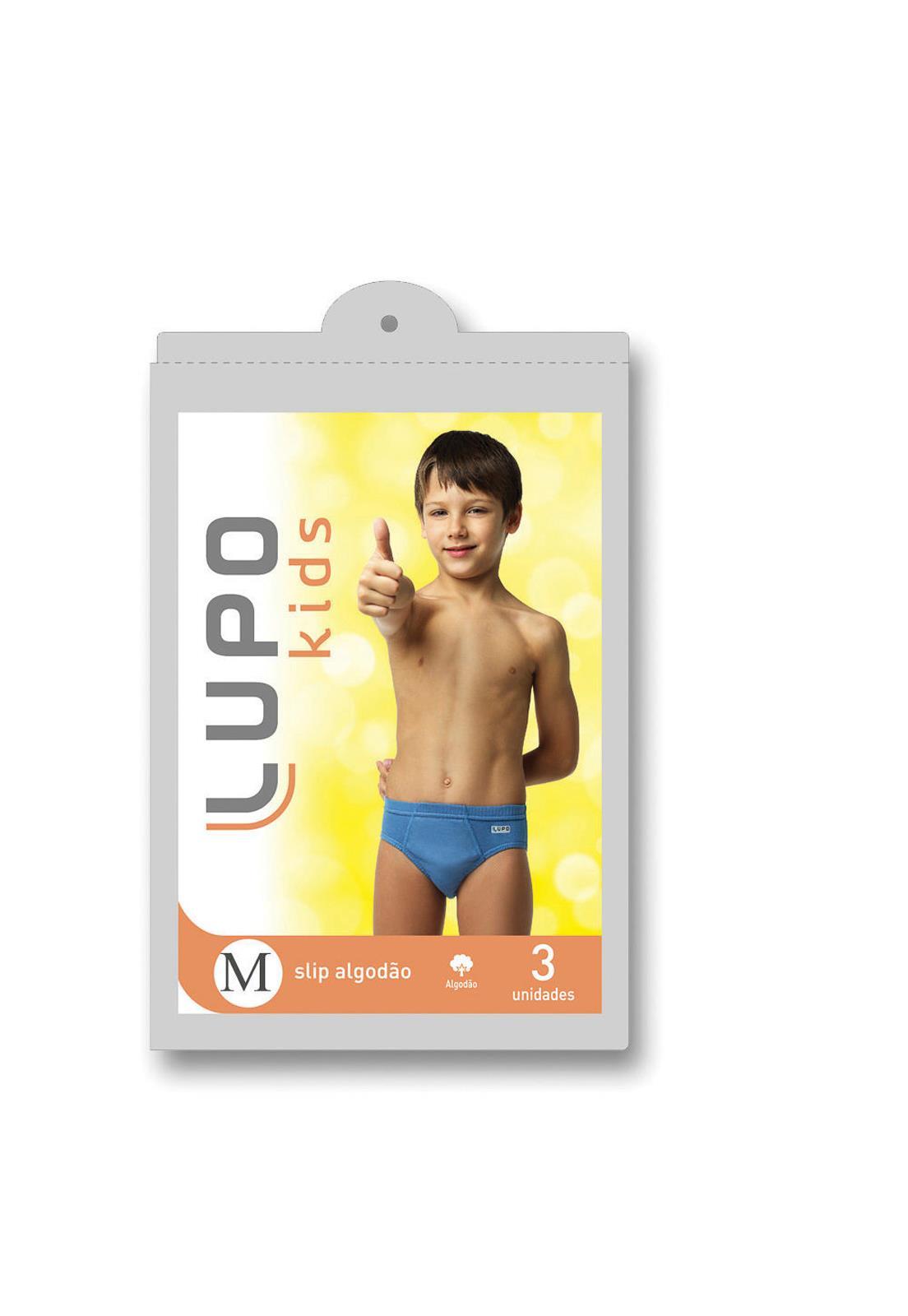 Kit Infantil Cuecas Lupo em Algodão 140 - Le Lingerie f36be5ecec729