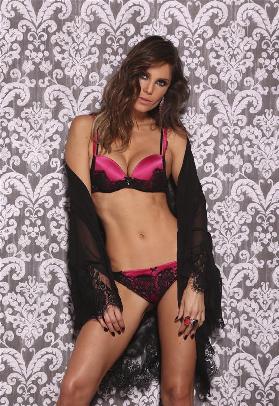 Robe Preto de Luxo em Voal Pink Pop De Chelles