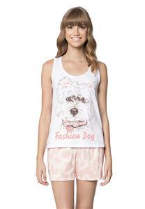 Pijama Feminino de Verão Fashion Dog Lua Encantada