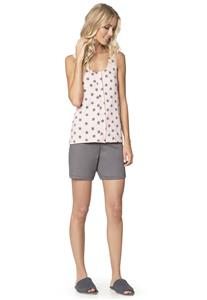 Pijama Feminino de Verão com Botões Star Lua Encantada