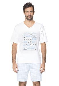 Pijama Masculino Xadrez Amor de Pai Amores Lua Encantada