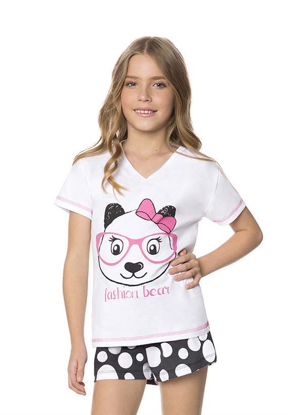 Short Doll Juvenil Feminino de Ursinho Lua Encantada