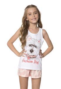 Pijama Infantil de Verão Fashion Dog Lua Encantada