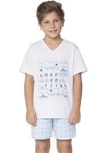 Pijama Juvenil Masculino Amor de Filho Amores Lua Encantada