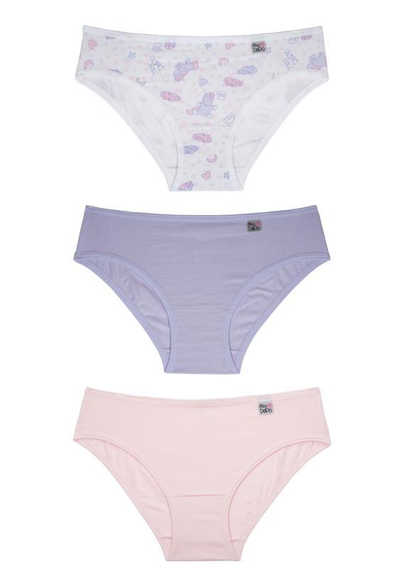 Kit Infantil com 3 Calcinhas Miss DelRio 51354 - Le Lingerie 88a6bbe10a0