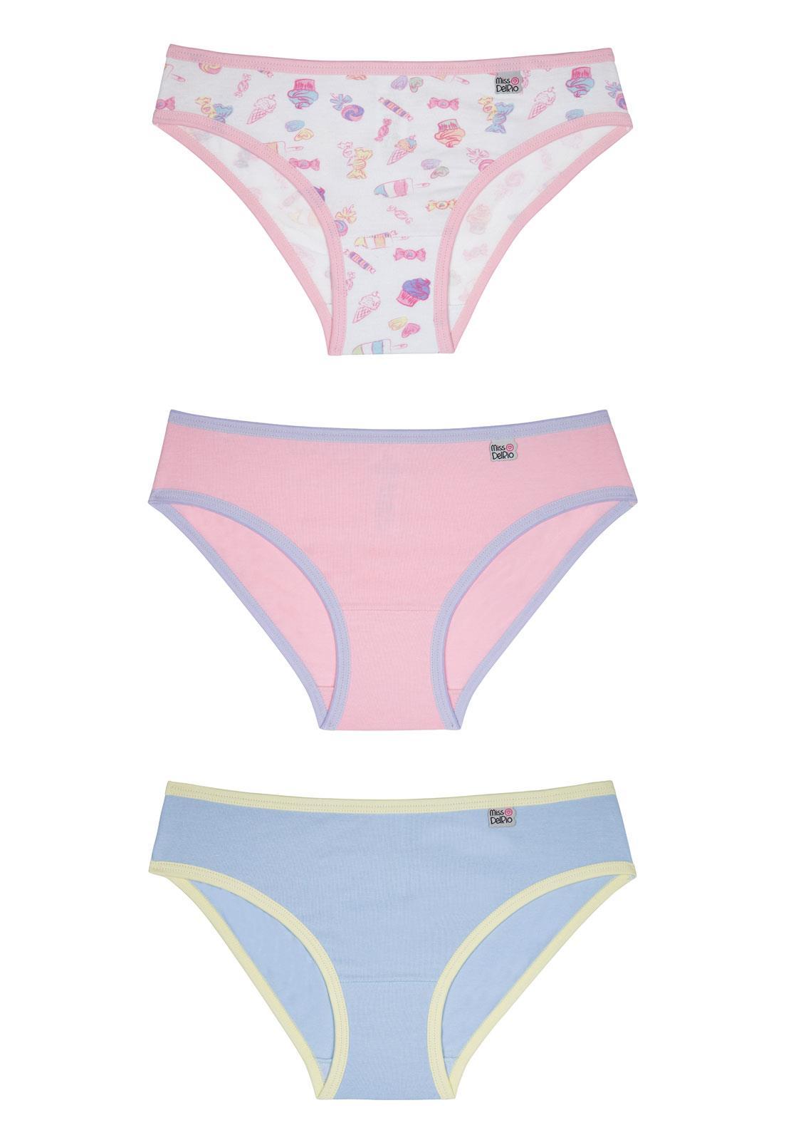 c98b8654e Kit Infantil com 3 Calcinhas Miss DelRio 51354 - Le Lingerie