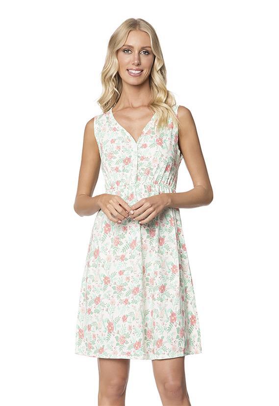 Camisola Floral Regata com Abertura Lady Lua Encantada