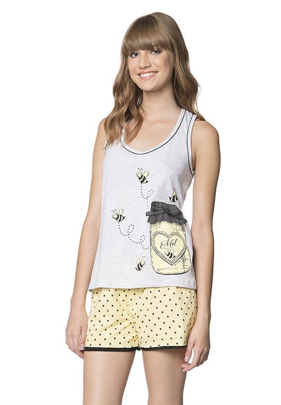 Pijama de Verão com Regata Doce Lua Encantada