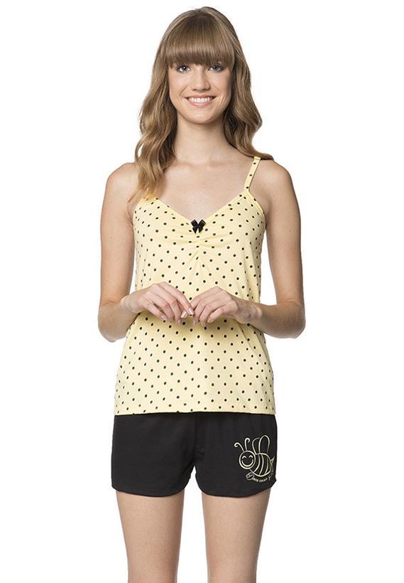 Short Doll Amarelo com Poá Doce Lua Encantada