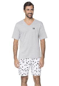 Pijama Juvenil de Verão Masculino Carros Lua Encantada