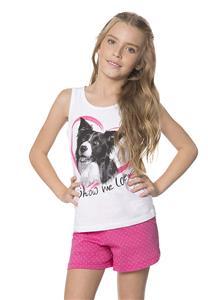 Pijama de Verão Juvenil Regata Show Me Love Lua Encantada