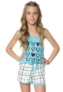 Short Doll Infantil de Corações Chess Lua Encantada