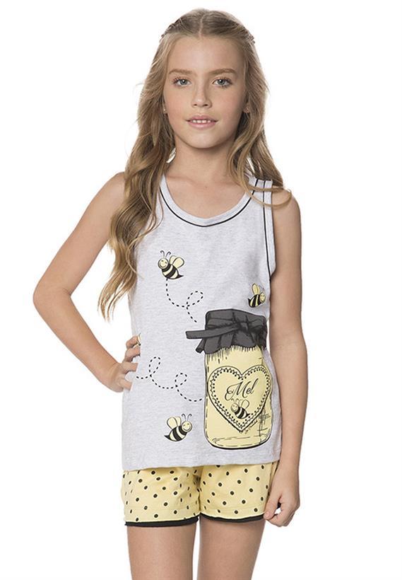 Pijama de Verão Infantil com Regata Doce Lua Encantada