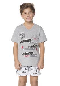 Pijama Infantil Masculino de Verão Carros Lua Encantada