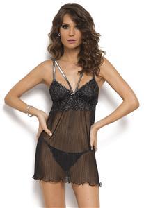 a5ad1ce39 Camisola Plissada de Luxo Sem Bojo Black Shine De Chelles