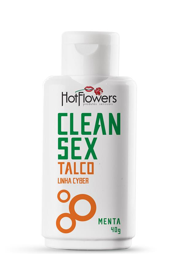 Talco Clean Sex Linha Cyber Hot Flowers 40g
