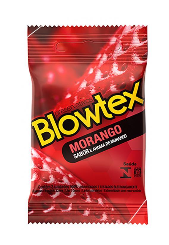 Preservativo Blowtex Sabor Morango Sexy Fantasy